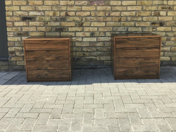A pair of Danish rosewood chest of draws