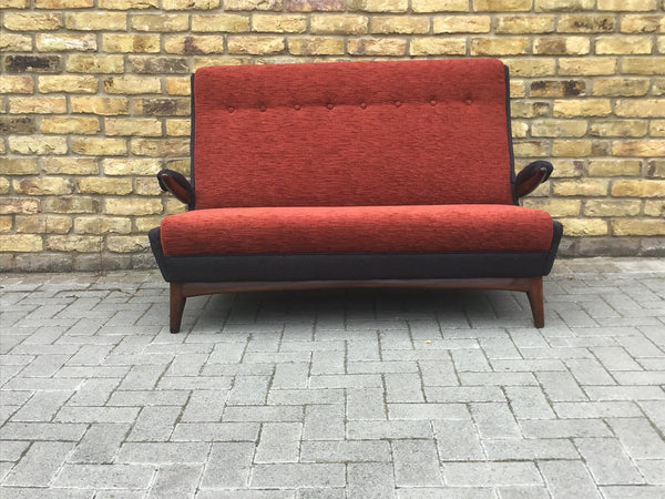 1950's re upholstered Greaves & Thomas sofa. SOLD