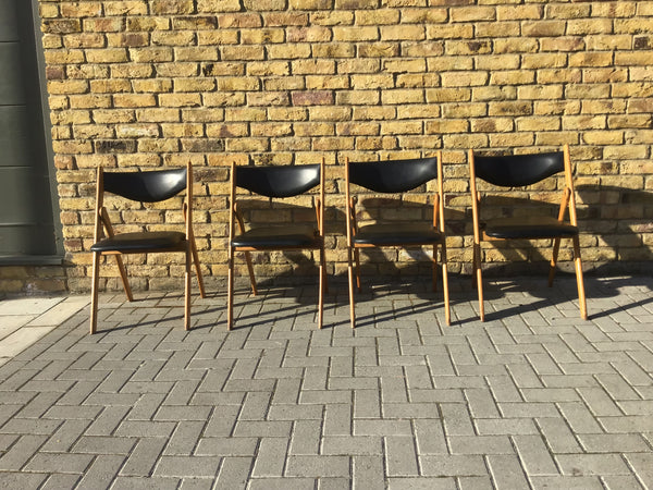 A Set of 4 1960's folding chairs