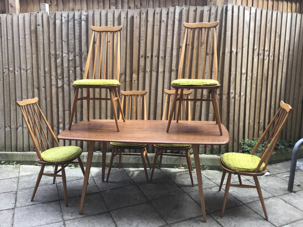 1960's Ercol dinning table 6 chair