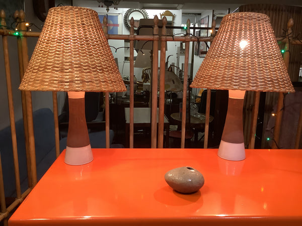 1960's Swedish table lamps by Keramik