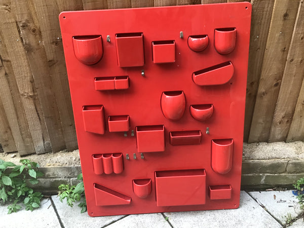 Dorothea Maurer-Becker 1969 wall mounted organiser.     SOLD