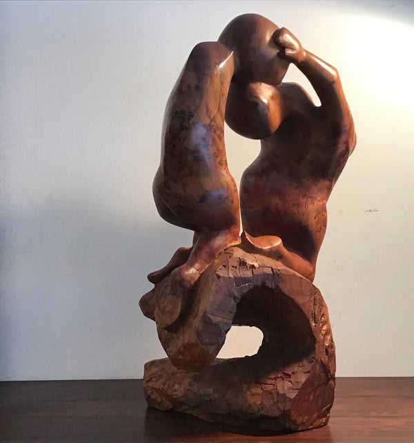 1970s wooden  Figurative  Sculpture