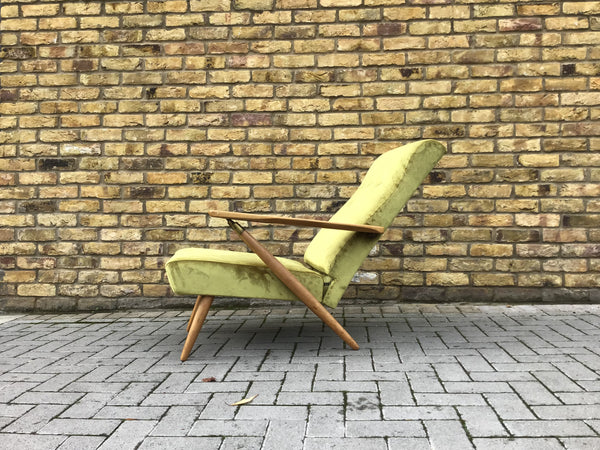 In the style of Carlo Molino  1950's Italian armchair
