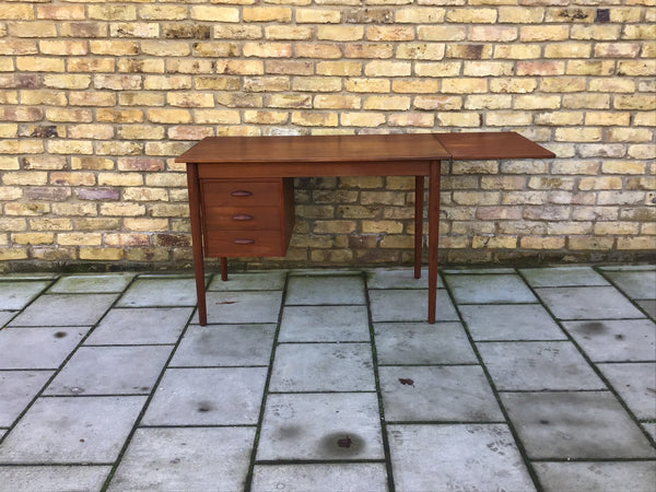 1960's Danish desk with dropleaf
