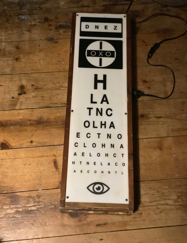 Opticians light box.SOLD