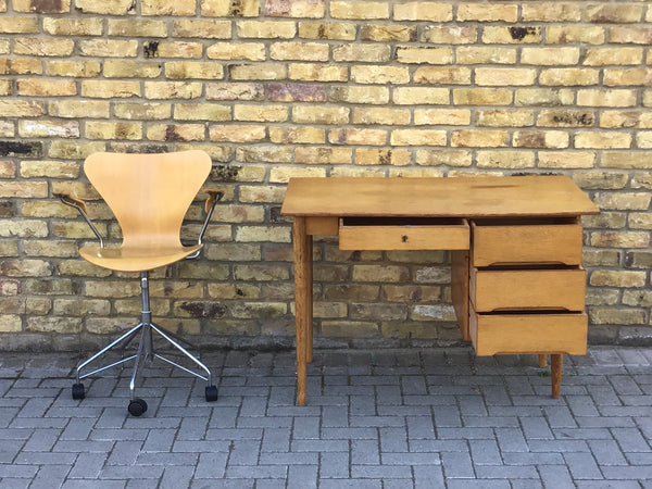 1960's Danish oak desk