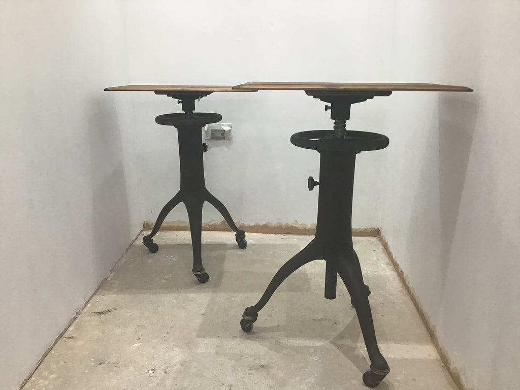 1950's French Opticians adjustable table
