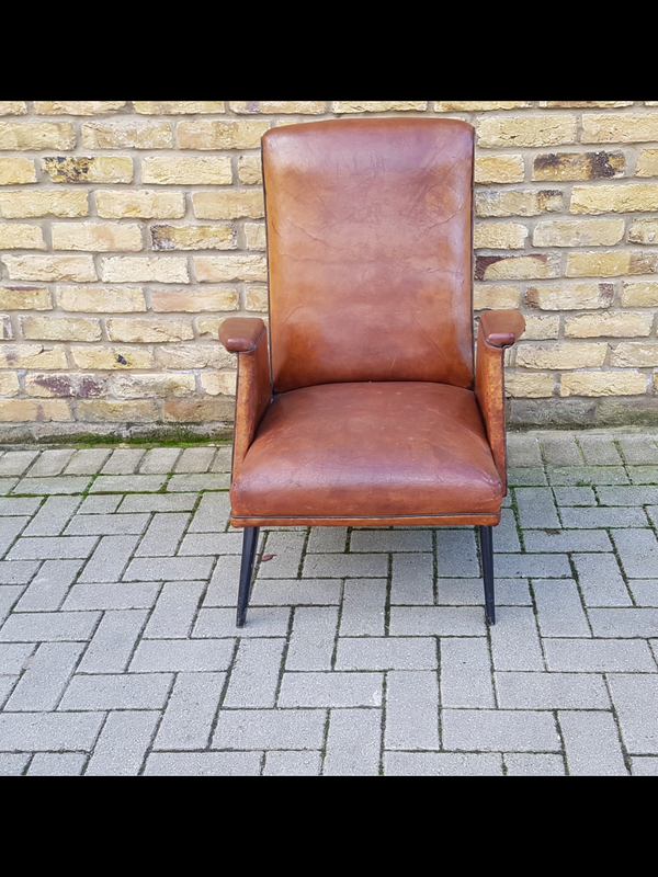 1950's French Leather armchair