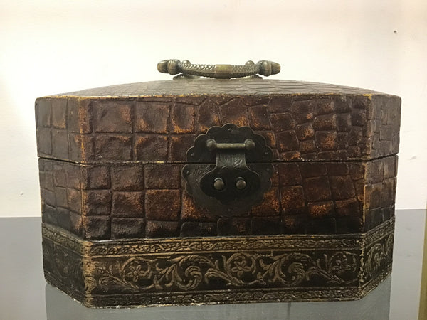 1930's Chinese crocodile skin box