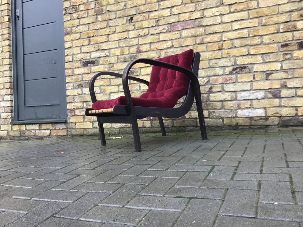 1940's Czech Republic armchair by K.Kozelek and A. Kropacki.    SOLD