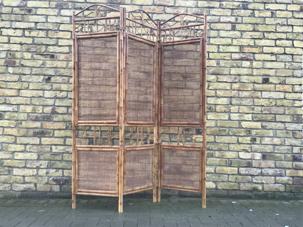 1960's bamboo screen room divider