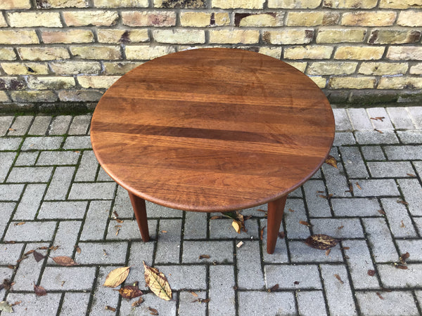 1960's Danish round coffee table