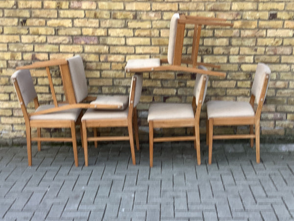 Set of 6  1960's dinning chairs by Gordon Russell
