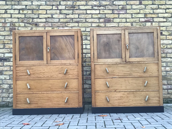 A Pair of Deco storage cabinets SOLD