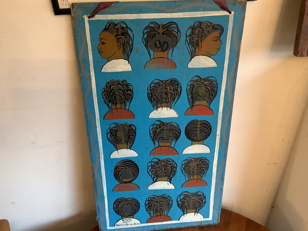 Vintage African hairdresser's sign