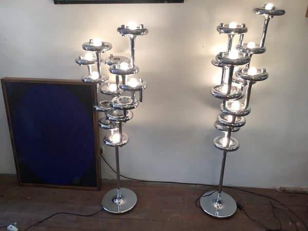 A Pair of Nagel  modular Standing Lamps