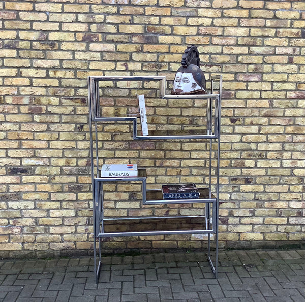 Maison Jensen chrome 1970's shelving