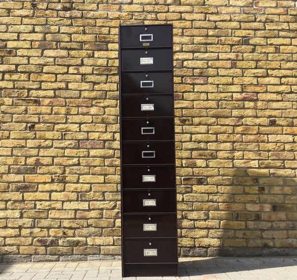 1940's French metal filing cabinet by Roneo