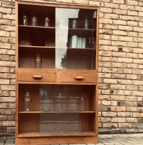 1940's oak Bookcase/Display cabinet