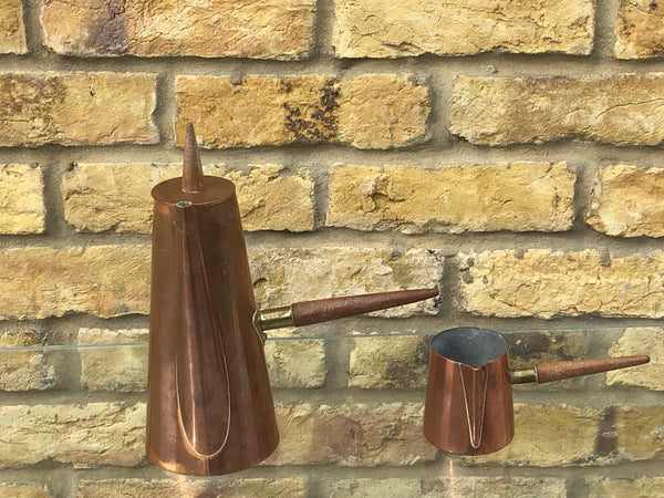 1960s copper coffee pot pourer  by ARGV, Portugal.