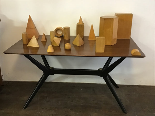 Vintage Geometric wooden shapes