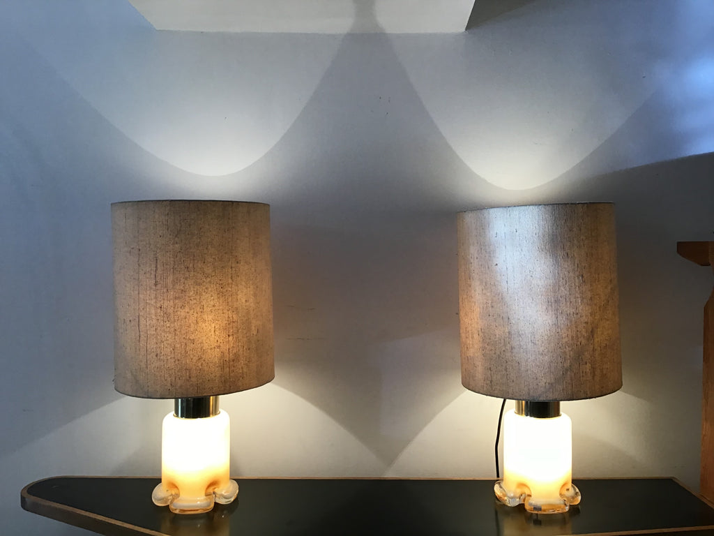 A pair of 1970's table Lamps by Limburg