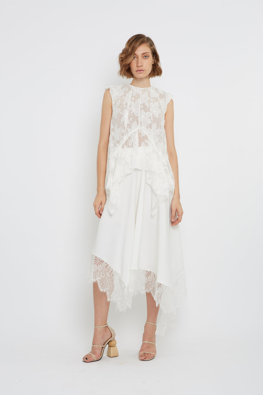 LACE RUFFLE LONG SKIRT