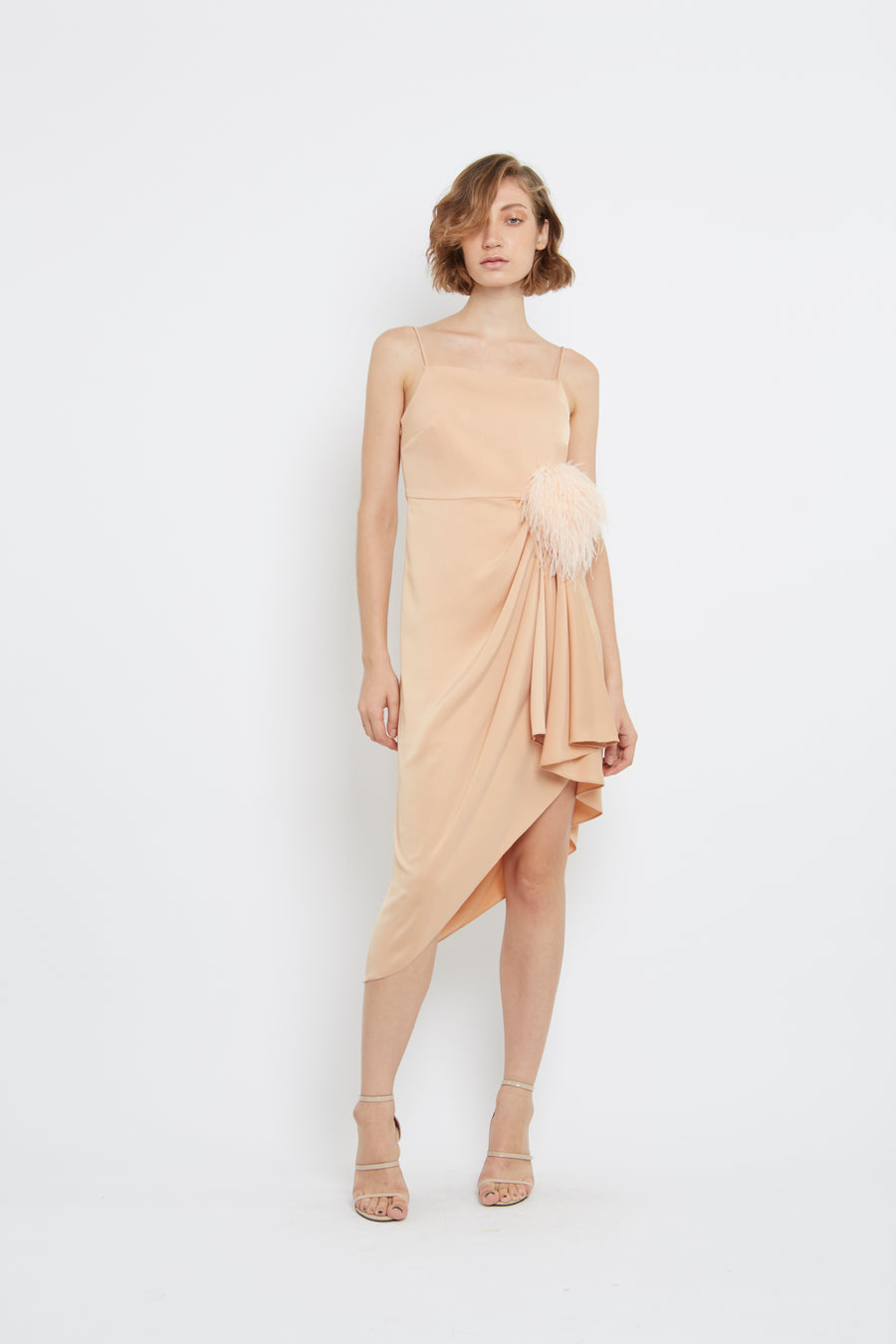 Satin Gather Dress