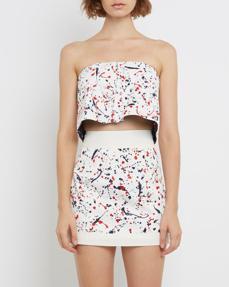 PRINTED FABRIC Mini Skirt