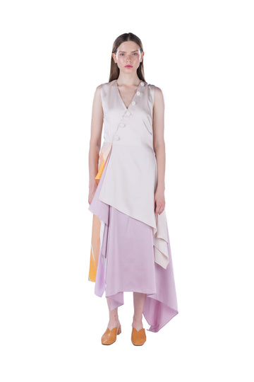 Irregular Satin Dress
