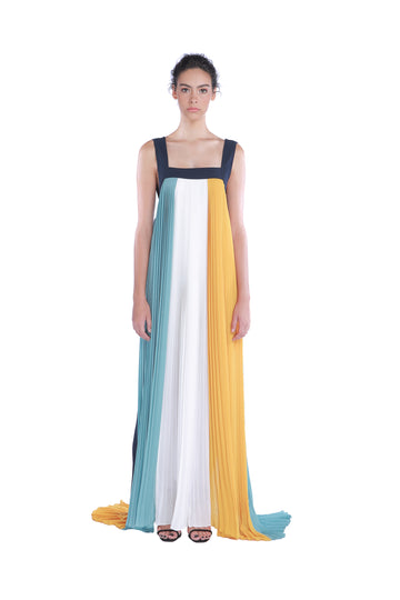 FULL - LENGTH PLEAT DRESS