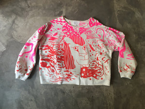 "Sweater Kochin ""arty""_ Gina pink/red"