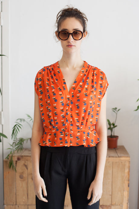 Blouse Katia orange Gina