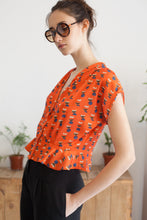 Load image into Gallery viewer, Blouse Katia orange Gina