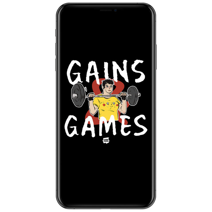 Gains & Games Wallpaper