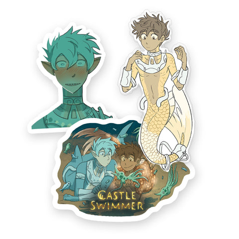 Castle Swimmer Sticker Pack
