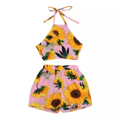 Sunflower Halter Set