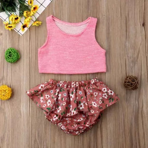 Floral Skirted Bummie Set