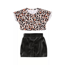 Load image into Gallery viewer, Leopard Skirt Set