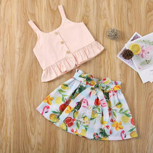 Lemon Skirt Set