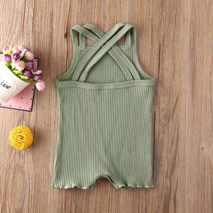 Ribbed Crossback Romper