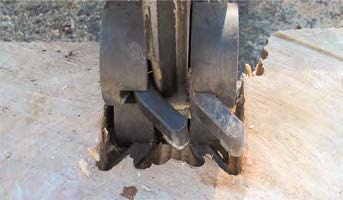 Pin Teeth Stump Grinder Teeth Cross Over Image
