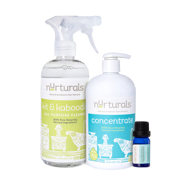 Nurturals Deluxe Clean Set, Non-Toxic Eco-Friendly Cleaner Made in Oregon