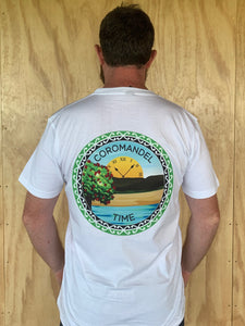 Coromandel Time T Shirt with Relax on Front and Logo on Back