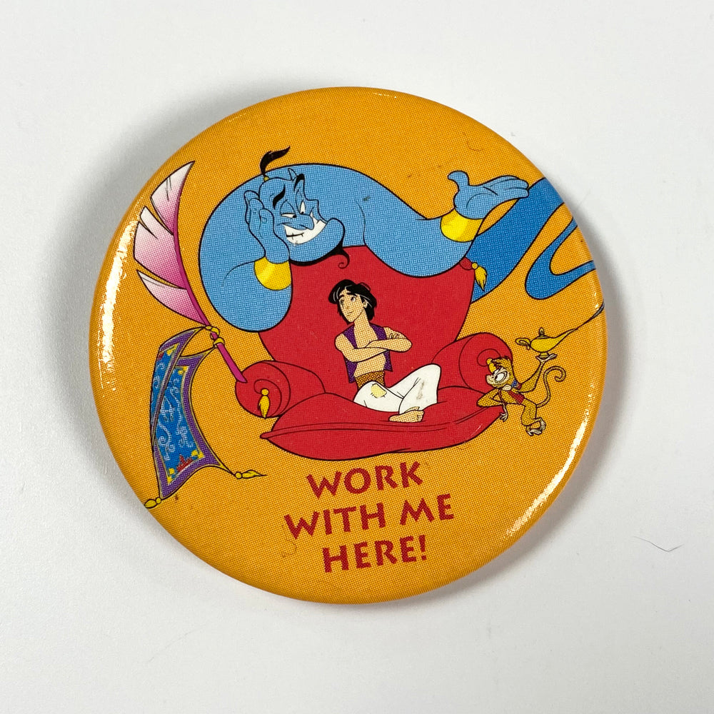 Aladdin Work With Me Pin