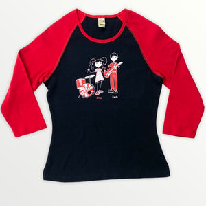 White Stripes Raglan Tee