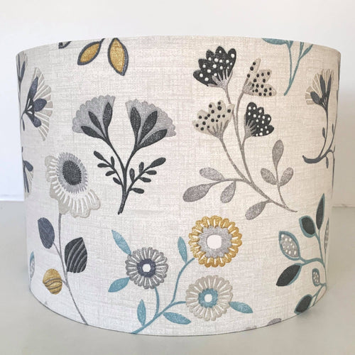 Alder Ochre/Charcoal Lamp Shade