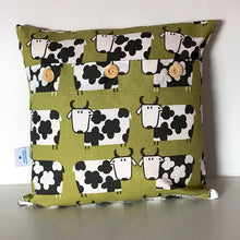 Load image into Gallery viewer, Retro Lime Cow Cushion Cover SALE! FREE P & P