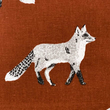 Load image into Gallery viewer, Orange/Brown Fox Cushion Cover SALE! FREE P & P